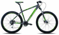 27,5 Zoll Mountainbike Legnano Lavaredo 24 Gang Legnano dunkelgrau-grün-schwarz