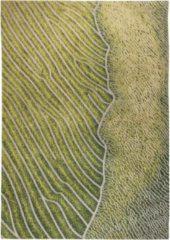 Louis de Poortere - 9133 Waves Shores Gambia Coast Vloerkleed - 170x240 cm - Rechthoekig - Laagpolig Tapijt - Modern - Grijs, Groen