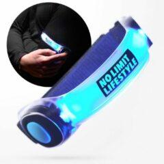 No Limit Lifestyle Hardloop Verlichting - Hardloopverlichting - Hardloop Lampjes - Blauw - LED armband - LED armband hardlopen