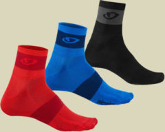 Giro Comp Racer Socks 3er Pack Fahrradsocken 3erPack Größe M bright red/blue/charcoal