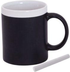 123 Kado koffiemokken 2x Krijt mokken wit