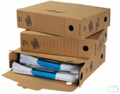 Bruine Bankers Box Loeff's archiefdozen universeel Box A4 345x250x80 mm Pak van 50 stuks FSC