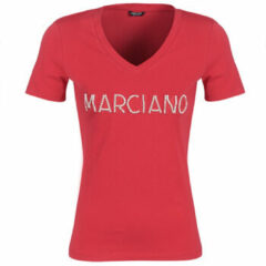 Rode T-shirt Korte Mouw Marciano LOGO PATCH CRYSTAL