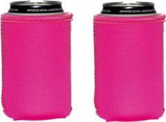 Koozie.eu 4 x Roze blikjes koelhoudhoes - bierblik hoesjes - 4 Stuks