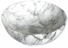 SaniGoods Marble wastafel 41x18cm wit keramiek