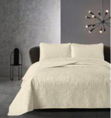 Creme witte Dreamhouse Bedsprei - Clara - Gewatteerd - Luxe uitstraling - Incl. Kussenslopen - Creme