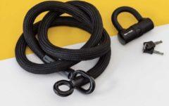 Zwarte Texlock Kettingslot L 160cm Textiel