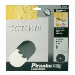 Black & Decker, Bosch, Skil BLACK+DECKER Piranha Sägeblatt für Kreissäge, TCT/HM 190x16 mm K20 X13140-XJ