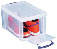 Really Useful Box opbergdoos 14 liter met opening aan de voorkant, transparant
