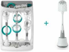 Witte OXO Tot flessendroogrek met flessenborstel - combideal!