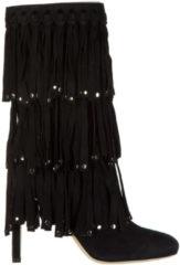 Nero Jimmy Choo Stivaletti stivali donna con tacco camoscio
