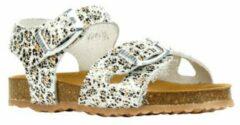 Witte Develab 48224 leren sandalen panterprint
