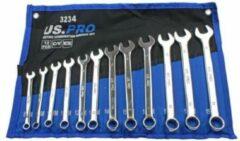 Blauwe US.PRO Tools by Bergen Ring-steeksleutelset 8 mm tot 19 mm 12-delig