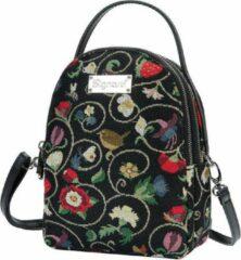 Zwarte Signare - Mini Backpack - Schoudertas - Jacobean Dream