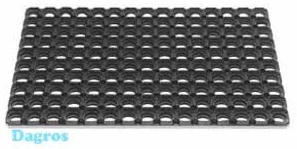 Afbeelding van Zwarte Betra Ringmat Domino Rubber - 40 x 60 x 2,3 cm