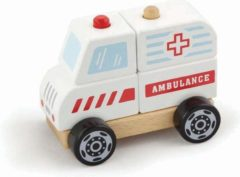 Witte New Classic Toys Stapel Auto - Ambulance