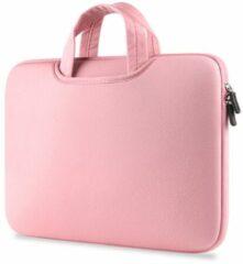Merkloos / Sans marque Airbag Universele 2-in-1 sleeve / tas voor laptops tot 14 inch - Roze