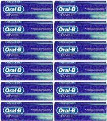 Oral-B Tandpasta - 3D White Soft Mint - 12 x 75 ml - voordeelverpakking