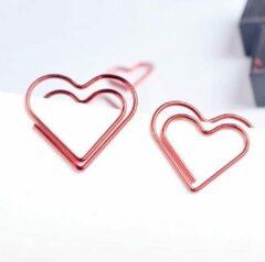 Merkloos / Sans marque Paperclips Hart Rood - 12 stuks