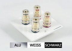 Lyndahl Highend Lautsprecherblende LKL002 für zwei Lautsprecher, div. Farben Farbe: Silber