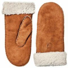 Hestra - Sheepskin Mitt - Handschoenen maat 6, bruin/oranje/wit