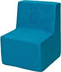 Go Go Momi Zachte foam stoel, borduurwerk, kinderen, comfortabel, zetel, kinderdagverblijf, Kids meubels, spelen, ontspannen - Blauwe
