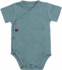 Groene Baby's Only Rompertje Melange - Stonegreen - 50 - 100% ecologisch katoen - GOTS