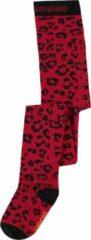 Vingino maillot Vela met panterprint rood/zwart