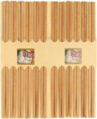 Donkerbruine Merkloos / Sans marque 12 Paar eetstokjes donker bamboe hout