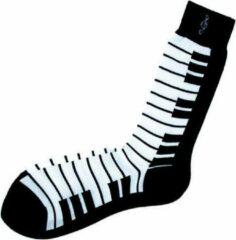 AIM Herensokken met zwart wit pianotoetsen.
