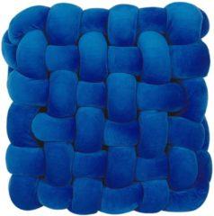 Blauwe Beliani Sirali Sierkussen Fluweel 30 X 30 Cm
