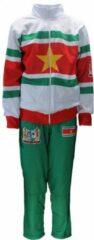 Merkloos / Sans marque Merkloos Suriname Vlag Trainingspak Wit/Rood/Groen/Geel Unisex Sweatvest 128