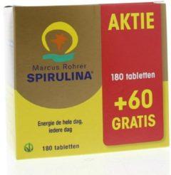 Marcus Rohrer Spirulina - 180 + 60 tabletten (actie verpakking)