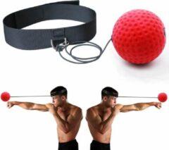 Rode LOUZIR Hoofdband / Box Reflex Bal / Hoofd Reflexbal / Workout / Mini Punch Home Trainer Boks Kickboks / Boksen / Reflex Trainer / Vechtsport / Reactiesnelheid / Hand-Oog Coördinatie / Fitness / Reflexball