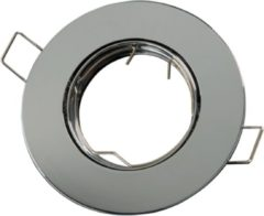 Groenovatie LED line Inbouwspot - Rond - RVS Look - GU5.3 Fitting - Ø 92 mm - Satijn