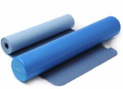 Blauwe Yin-yoga set blue Fitnessmat YOGISTAR
