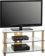 Maja TV-Rack Trent, ca. 95x51x52 cm, messing/klarglas