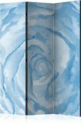 Lichtblauwe Kamerscherm - Scheidingswand - Vouwscherm - rose (blue) [Room Dividers] 135x172 - Artgeist Vouwscherm