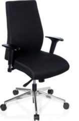 Hjh office Bureaustoel - Verstelbare Armleuning - Stof - Zwart - Ergonomisch