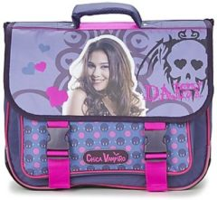 Paarse Schooltas Dessins Animés CHICA VAMPIRO CARTABLE 38CM