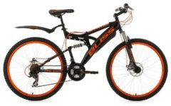 KS Cycling Fully-Mountainbike, 26 Zoll, schwarz-orange, 21 Gang-Kettenschaltung, »Bliss«