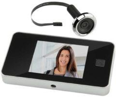Zwarte Intersteel Deurcamera - Digitaal - Met spion - DDV 3.0 in blister verpakking