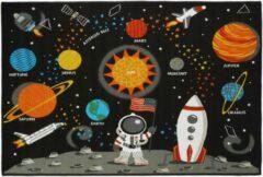 Zwarte Relaxdays speelkleed ruimte - speelmat - speeltapijt - kinderkamer kleed - 150 x 100 cm