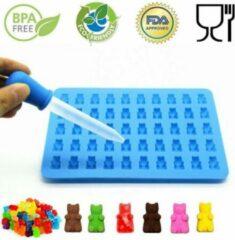 Blauwe Favorite Things Snoepvorm voor het maken van Gummie Bear snoepjes | Siliconen mal + pipet | Zelf gummibeer snoep maken