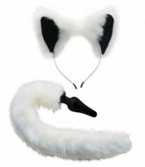 Tailz White Fox Buttplug & Haarband Set (1st)