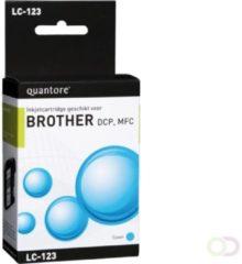 Quantore Inktcartridge - geschikt voor Brother LC-123 - Cyaan / Blauw
