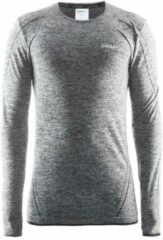 Zwarte Craft Active Comfort Roundneck Ls Heren Trainingsshirt - Black Melange - M