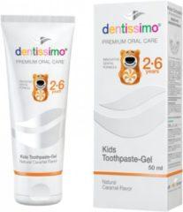 Dentissimo Kindertandpasta 2 - 6 jaar | Met caramelsmaak | Fluoride vrij