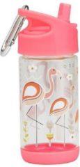 Roze Drinkfles Flip & Sip Flamingo | SugarBooger