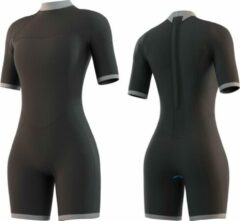 Mystic Boarding Mystic Dames Brand 3/2 back-zip shorty wetsuit black